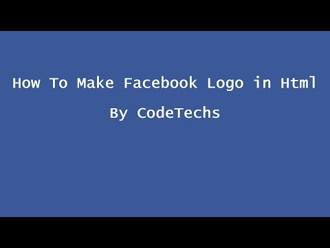 How To Make Facebook Logo In Html And Css