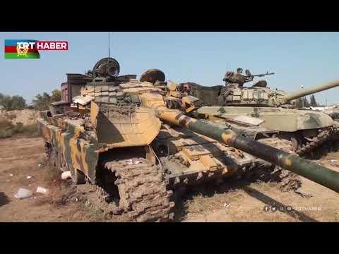 Azerbaycan, Ermenistan'ın mevzide bıraktığı tankların görüntülerini paylaştı