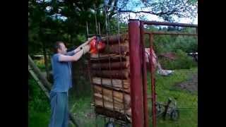 Firewood holder / Dr iak na rezanie palivov ho dreva