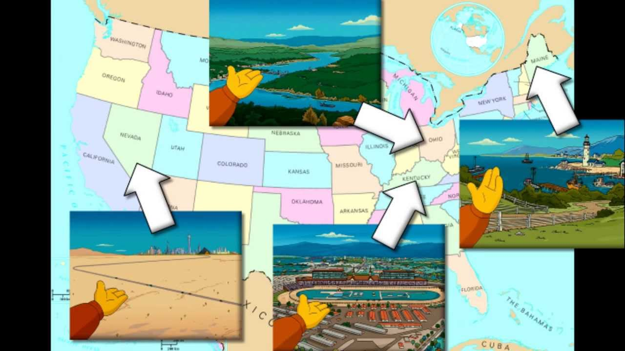 Simpsons Mysteries What State Is Springfield In