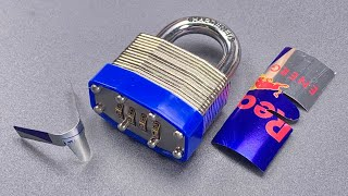 [1095] Red Bull Can Padlock Shimming!