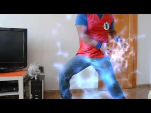 Parodia Dragon Ball Z Goku kame hame ha Vida Real