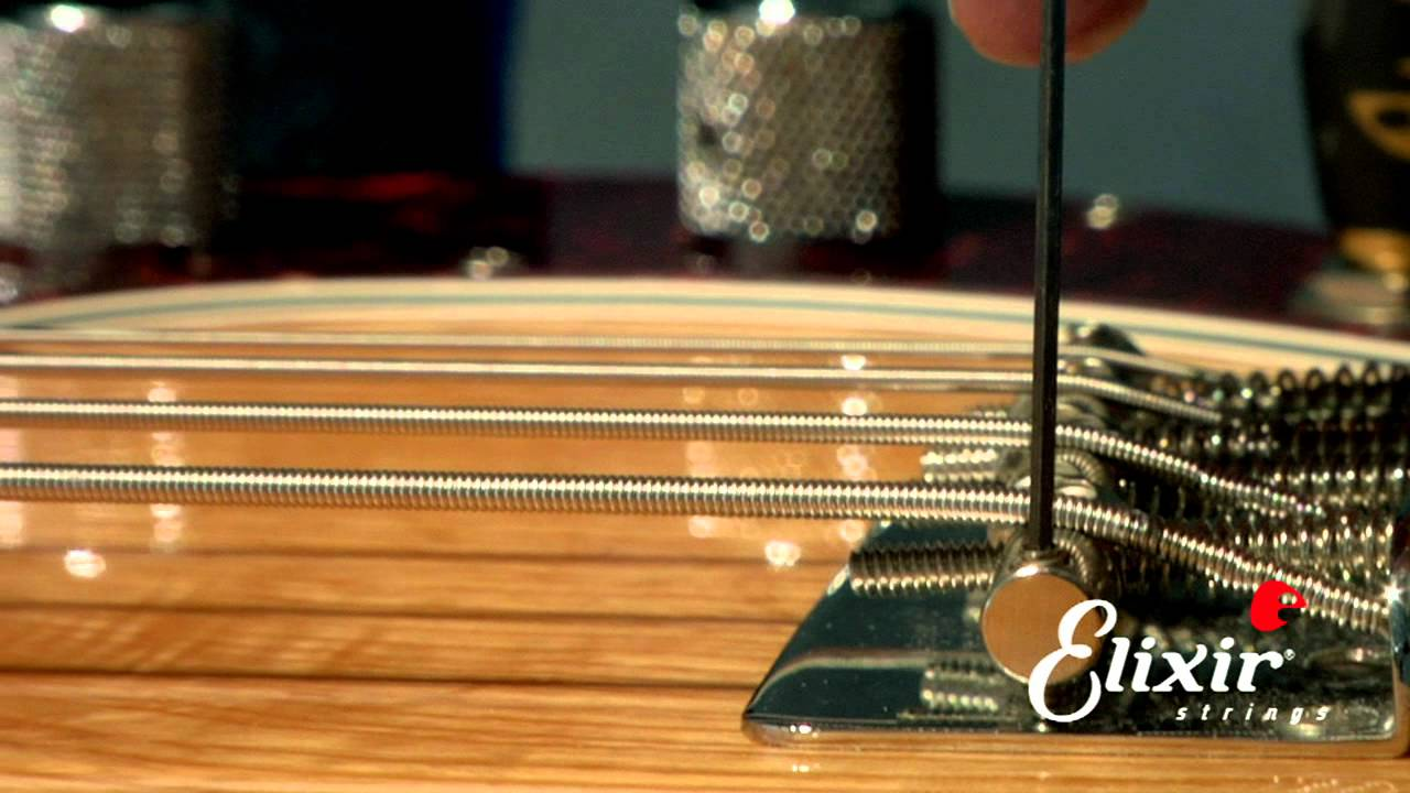 setting up your bass guitar bridge action height adjustment step