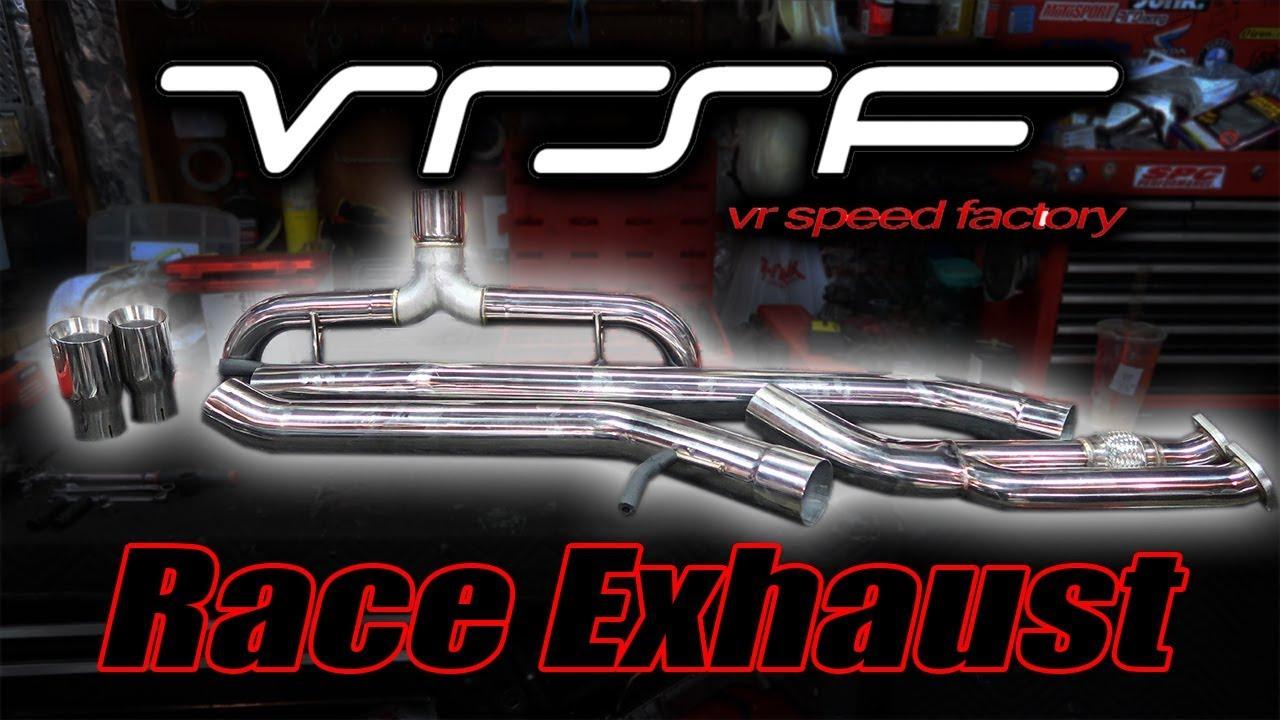 vrsf 3 5 race exhaust install e9x bmw 335i