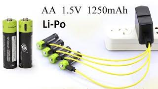 видео USB батарейка аккумуляторная АА – купить батарейку заряжаемую от USB NiMH 1.2В AA 1450 мАч USBBatt: отзыв, обзор, тест
