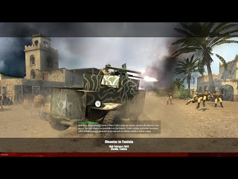 MoW - Men of War - Allied Campaign - Mission 4 - Disaster in Tunisia - HD