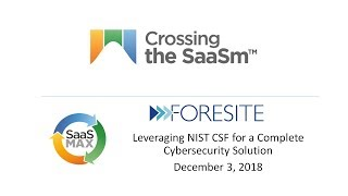 Crossing the SaaSm   NIST CSF with Foresite