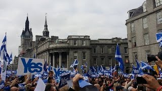 Freedom Come All Ye Aberdeen Yes Flash Mob 14th September 2014 Charlie Abel