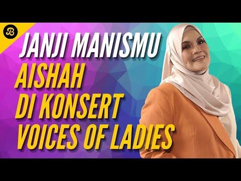 Suara Kaset! Vokal Aishah Nyanyi JANJI MANISMU di Konsert VOICES OF LADIES