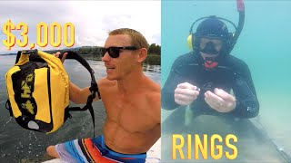 $3,000 Camera Gear Tossed in Lake!! Rings Found Underwater Metal Detecting while Freediving