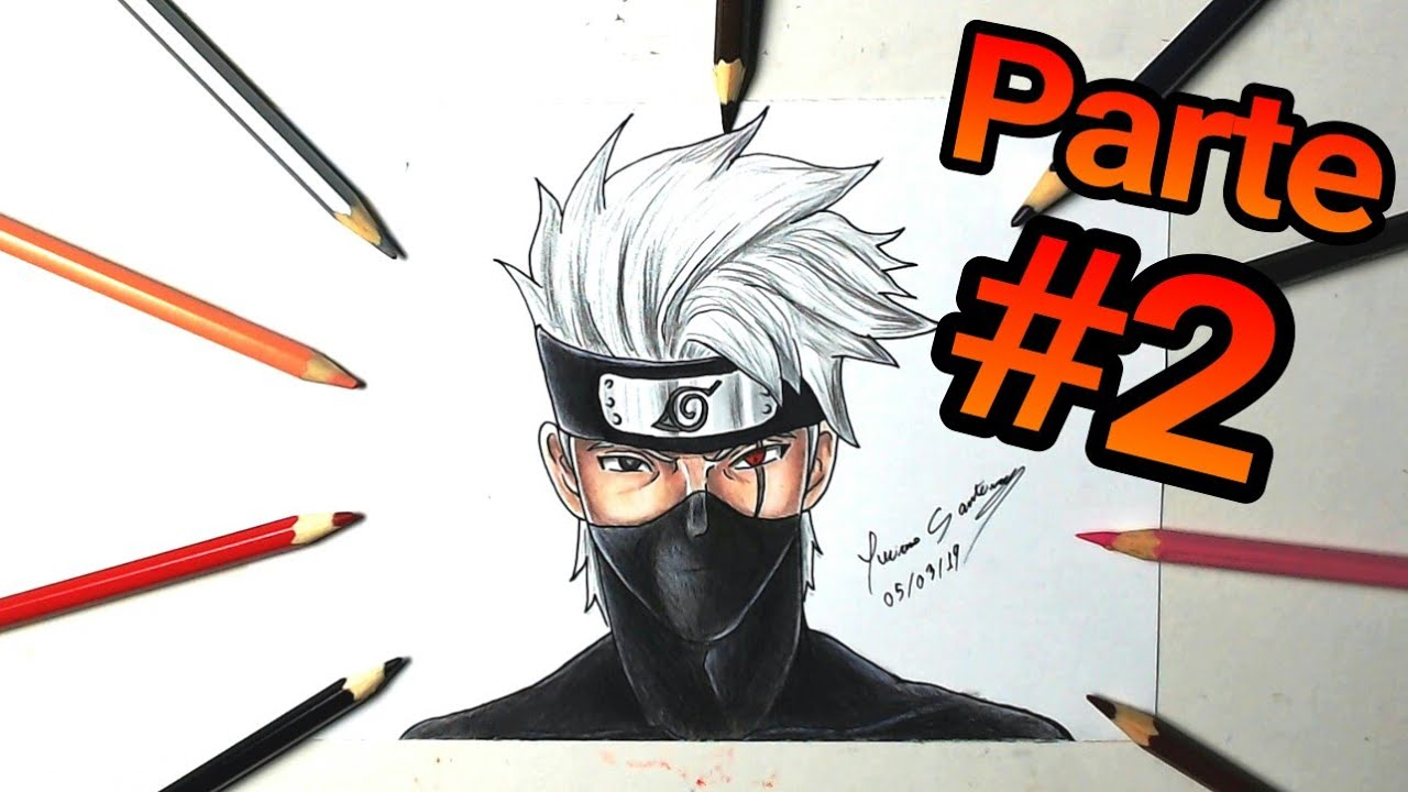 Como Colorir O Kakashi How To Drawing Kakashi Youtube