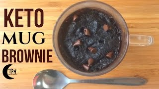 Keto Microwave Brownie | 2-Minute Low-Carb Mug Brownie Recipe