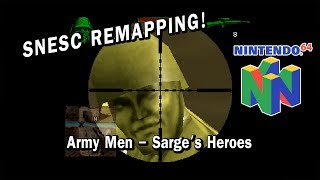 N64 on the SNESC - Remapping Army Men - Sarge's Heroes | SNESC Original controller