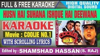 Husn Hai Suhana Karaoke Clean With Lyrics - Coolie No1 - Abhijeet, Chandna Dixit by Shamshad Hassan