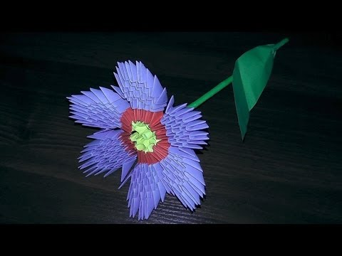Модульное оригами цветок примула первоцвет (видео схема сборки)