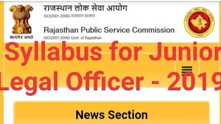 Syllabus for Junior Legal Officer - 2019