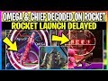 watch he video of *NEW* Fortnite: OMEGA & CHIEF Written On ROCKET What It Means! & Rocket DELAYED (Battle Royale)