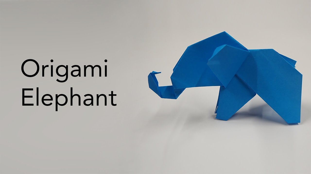How to Make an Origami Elephant Designed by Fumiaki Kawahata | 720x1280