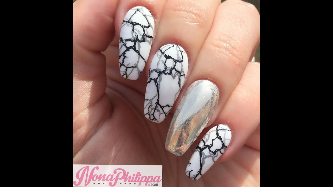 How To Do Marble Nails Double Stamping Nail Art Tutorial