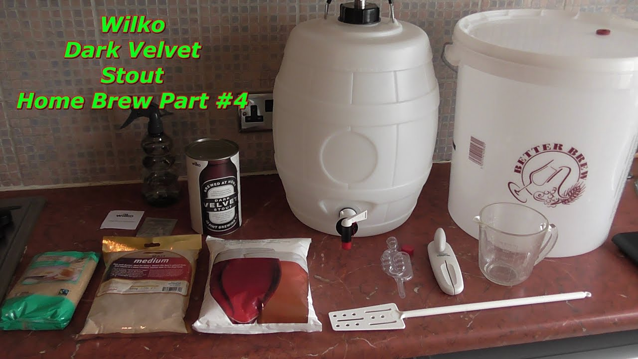 dark velvet stout brewing day wilko home brew beer kit uk. Black Bedroom Furniture Sets. Home Design Ideas