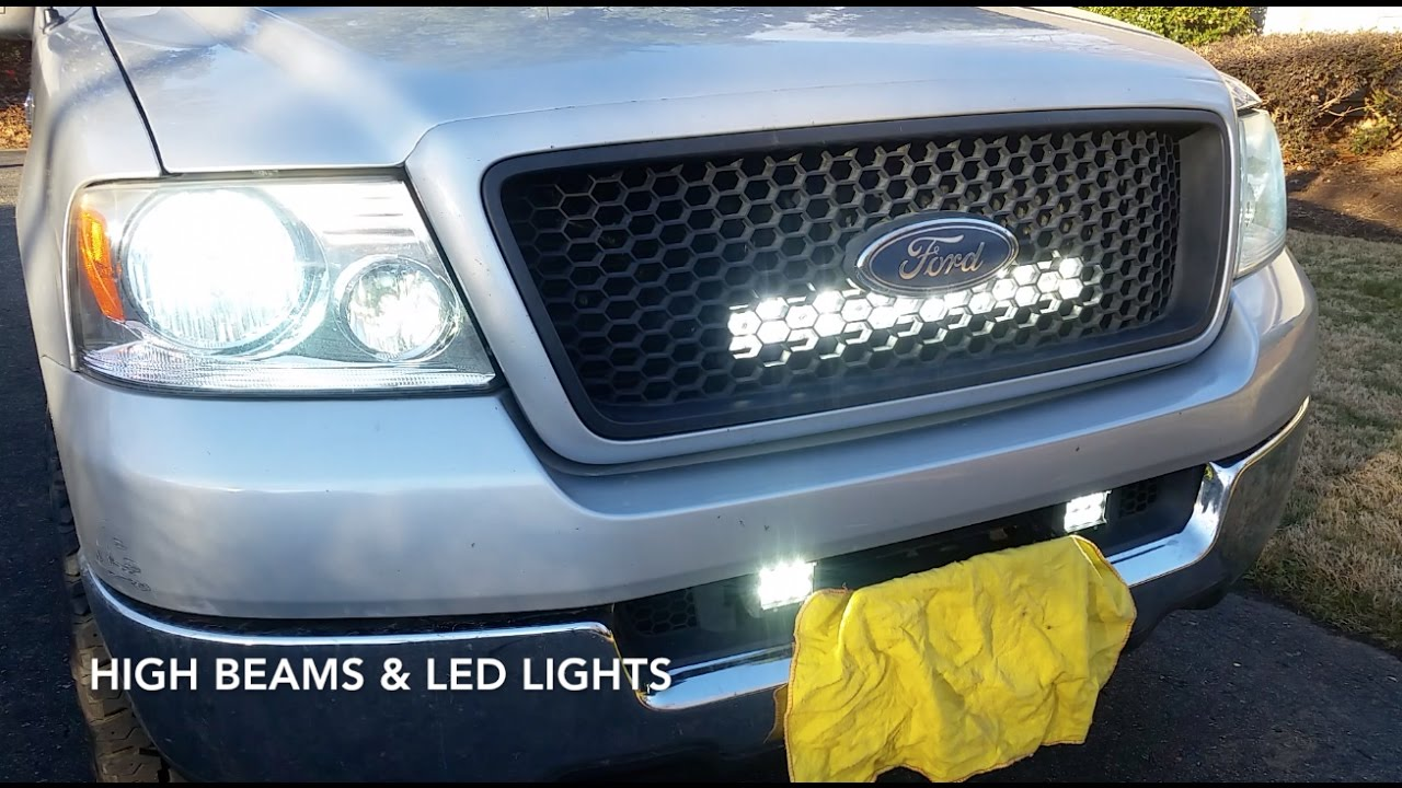 How I Wired My Led Lights Into Highbeams With A Switch Youtube Chevrolet Colorado Fog Light Relay Wiring Diagram