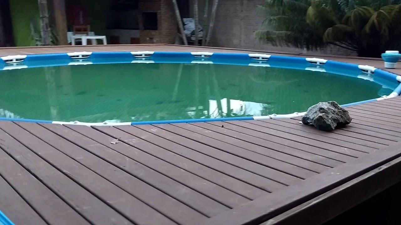 Durabilidade piscina intex youtube for Interrare piscina intex
