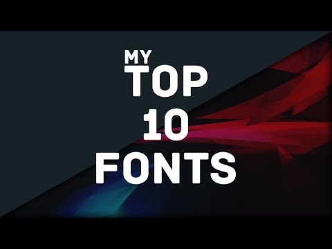 Top 10 Fonts for Designers