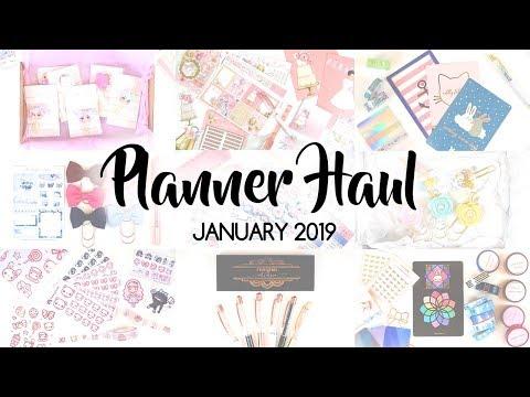 PLANNER HAUL | January 2019