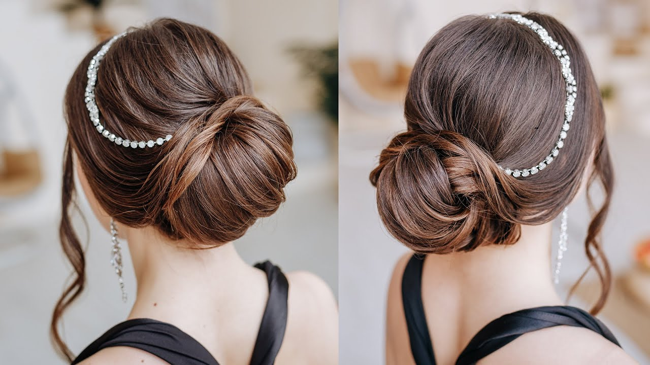 Long hair textured low bun easy to repeat   Prom ball hairstyle for long  hair