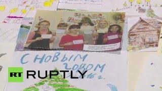 Военнослужащие РФ в Сирии отвечают на письма детей, поздравивших их с Новым годом