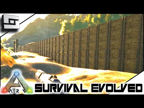 ARK: Survival Evolved - BASE DEFENSE WALL! E6 ( Procedurally Generated Gameplay )