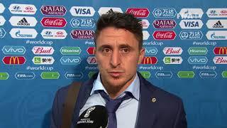 cristian rodriguez uruguay - post match interview - match 18