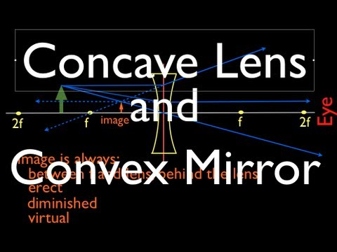 Ray Diagrams: Concave Lens and Convex Mirror