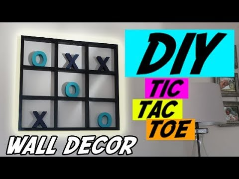 Tic Tac Toe Game | DIY Tic Tac Toe Wall Decor | How to build a tic tac toe game | Home Decoration