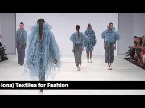 The University of Northampton Graduate Fashion Week show 2013 Highlights