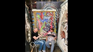 Philip de Clare's Interview with Ruzo Logic at The Guerrilla Artz Studio