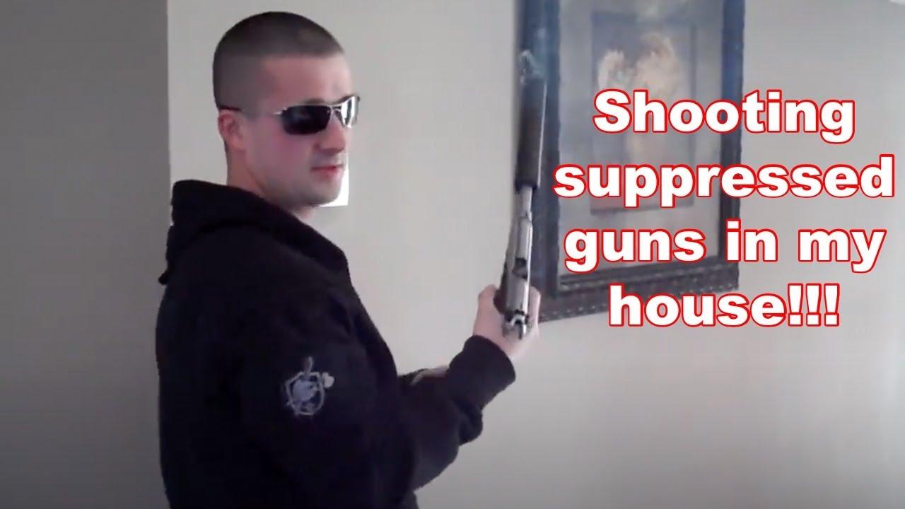 Jak naprawdę brzmią pistolety z tłumikiem w pomieszczeniach