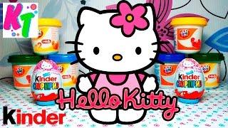 ✪ Hello Kitty. Розпакування кіндер сюрприз Хелло Кітті + подарунок кіндер з 90 х