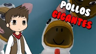 THE GIANT POOL ATTACK ? Roblox Chicken Simulator in Spanish