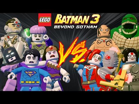 LEGO Batman 3 - Esquadrão Suicida VS Liga da Justiça Bizarra | Briga de Herois #116