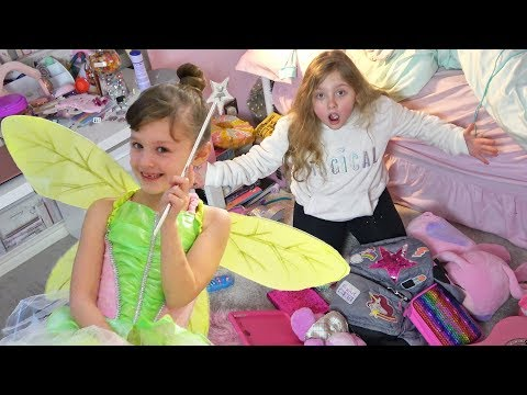 Tinker Bell The Fairy Plays Magic Pranks On Ava Isla And Olivia!!