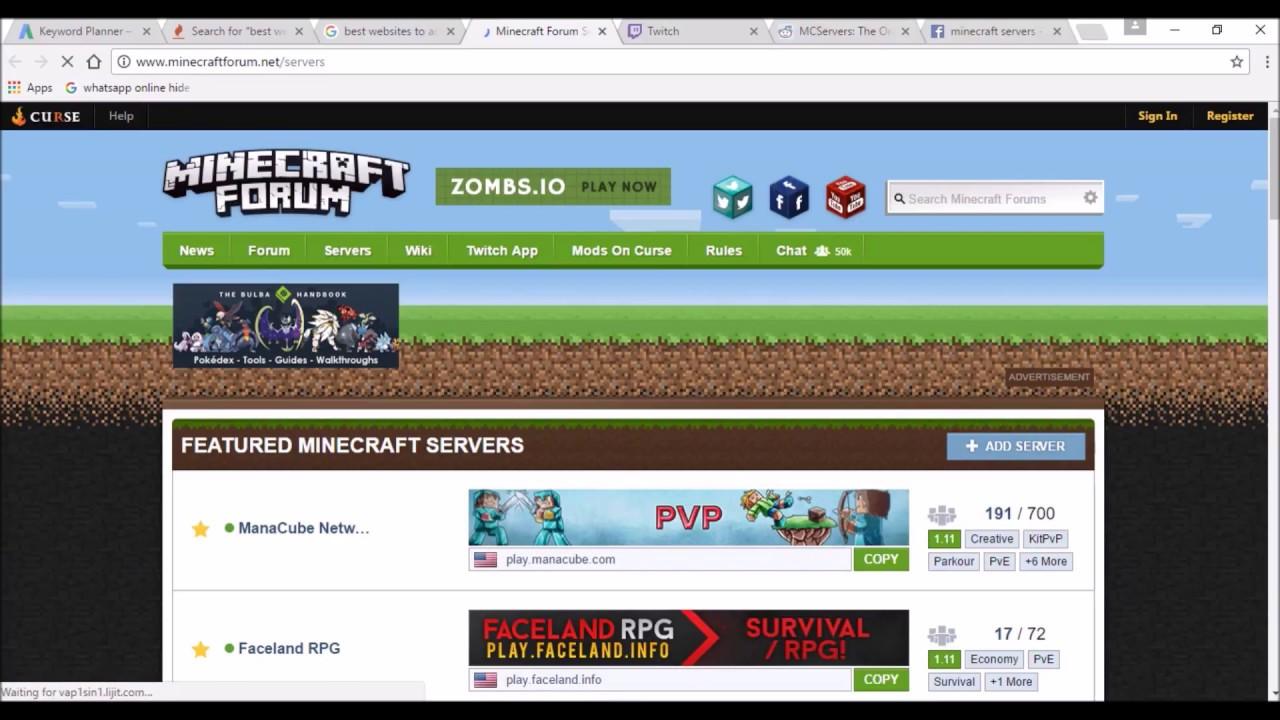 Рекламировать сервер minecraft заказ рекламы в г.железнодорожный