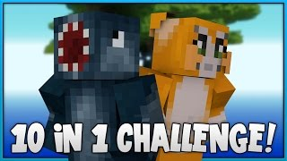 10 IN 1 CHALLENGE! - SKY ISLAND! [2] - Minecraft Custom Map W/Stampy!