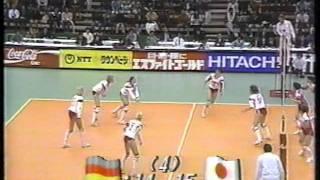 1991女子バレーボールワールドカップ 日本vsドイツ 2/2