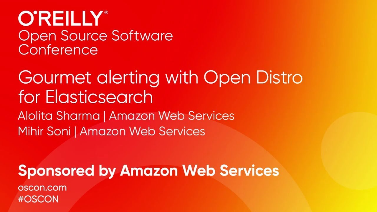 Gourmet Alerting with Open Distro for Elasticsearch