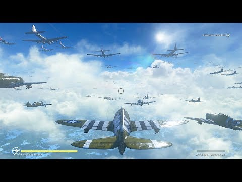 4K MAX SETTINGS REALISM Battle of the Bulge + AIR BATTLES - Call of Duty: WWII 4K Graphics (COD WW2)