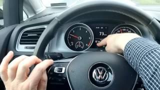 Abfahrtskontrolle Klasse B - Teil 3: Tempomat beim Golf (Fahrschule, Führerschein)