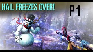 DEER HUNTER 2016 TWISTED CHRISTMAS event #2 HAIL FREEZES OVER Part1 ABOMINABLE SNOWMEN