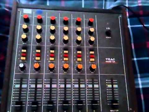 the old Teac mixer is back in the setup