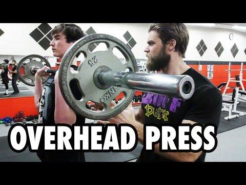 Teen Beginners Bodybuilding Training - OVERHEAD PRESS
